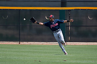 Cleveland Indians center fielder George Valera (32) during an Extended Spring Training game against the Arizona Diamondbacks at the Cleveland Indians Training Complex on May 27, 2018 in Goodyear, Arizona. (Zachary Lucy/Four Seam Images)