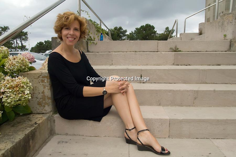 18 AGOSTO 2008 SANTANDER.La interprete musical Soledad Gimenez componente del duo Presuntos Implicados en el palacio de la Magdalena..foto JOAQUIN GOMEZ SASTRE