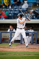 West Michigan Whitecaps third baseman Josh Lester (32) at bat during a game against the Clinton LumberKings on May 3, 2017 at Fifth Third Ballpark in Comstock Park, Michigan.  West Michigan defeated Clinton 3-2.  (Mike Janes/Four Seam Images)