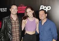 HOLLYWOOD,CA - OCTOBER 18: Matt Mercer, Najarra Townsend and Kevin Sluder attend the TRASH FIRE / Screamfest red carpet at TCL Chinese Theater in Hollywood, California on October 18, 2016. Credit: Koi Sojer/Snap'N U Photos /MediaPunch