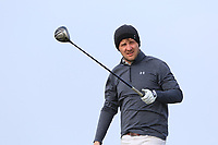 Robbie Pierse (Grange) on the 1st tee during Round 3 of The West of Ireland Open Championship in Co. Sligo Golf Club, Rosses Point, Sligo on Saturday 6th April 2019.<br /> Picture:  Thos Caffrey / www.golffile.ie
