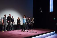 JUSTINE TRIET, VINCENT LACOSTE, MELVIL POUPAUD, LAURE CALAMY - PROJECTION DU FILM 'VICTORIA' A LA CINEMATHEQUE FRANCAISE A L'OCCASION DE LA REPRISE DE LA SELECTION CANNOISE DE LA SEMAINE DE LA CRITIQUE