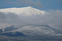 Mt.Katahdin covered in snow