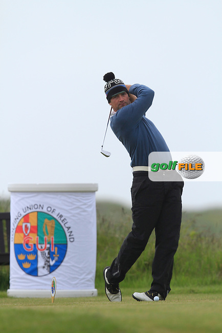 William Hanna (Kilkeel) on the 1st tee during Round 2 of the Irish Amateur Close Championship at Seapoint Golf Club on Sunday 8th June 2014.<br /> Picture:  Thos Caffrey / www.golffile.ie