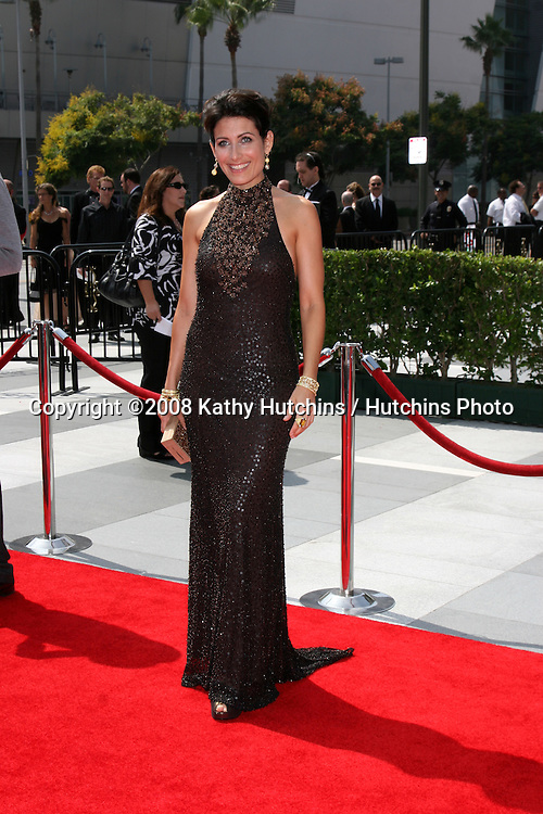 Lisa Edelstein  arriving at the Creative Primetime Emmy Awards at the Nokia Theater, in Los Angeles,  CA on.September 13, 2008.©2008 Kathy Hutchins / Hutchins Photo....