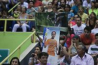 SAO PAULO, SP, 17 FEVEREIRO 2013 - BRASIL OPEN TENIS -  Torcida prestigia o tenista espanhol Rafael Nadal durante partida contra o argentino David Nalbandian, na final masculina do Brasil Open 2013, no Ginásio do Ibirapuera, zona sul de São Paulo, neste domingo (17). Nadal conquistou o título após vencer o jogo por 6/2 e 6/3..(FOTO: VANESSA CARVALHO / BRAZIL PHOTO PRESS).