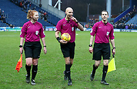 Todays match officials at the end of todays match<br /> <br /> Photographer Rachel Holborn/CameraSport<br /> <br /> The EFL Sky Bet League One - Blackburn Rovers v Oldham Athletic - Saturday 10th February 2018 - Ewood Park - Blackburn<br /> <br /> World Copyright &copy; 2018 CameraSport. All rights reserved. 43 Linden Ave. Countesthorpe. Leicester. England. LE8 5PG - Tel: +44 (0) 116 277 4147 - admin@camerasport.com - www.camerasport.com