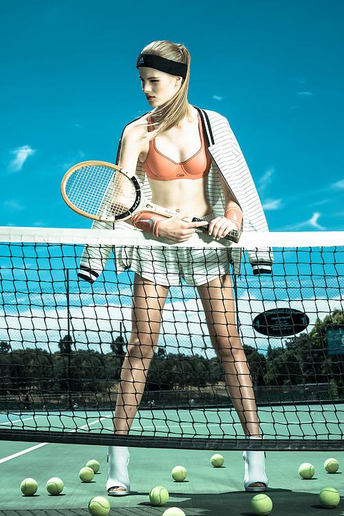 Fashion With Mirella, Tennis Fashion at Next Generation Tennis Courts, Models.Grace Dawson Photo: Nick Clayton