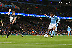 Raheem Sterling of Manchester City scores his sides second goal - Manchester City vs Monchengladbach - UEFA Champions League - Etihad Stadium - Manchester - 08/12/2015 Pic Philip Oldham/SportImage