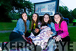 At the Kerry Film Festival's Open Air Cinema screening of Sing Street on Friday night were Ellen Wallace, Labhaoise Delihunty and Maeve Moloney