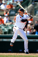 Baltimore Orioles catcher Matt Wieters #32 during a Spring Training game against the New York Mets at Ed Smith Stadium on March 30, 2013 in Sarasota, Florida.  (Mike Janes/Four Seam Images)