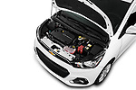 Car Stock 2017 Chevrolet Spark 1LT 5 Door Hatchback Engine  high angle detail view