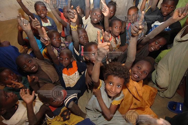 Pupils at Intahaka Public School, a school supported by Oxfam through local partner Tassaght, in Intahaka Village.