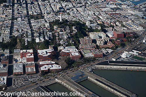 aerial photograph Telegraph Hill San Francisco, California