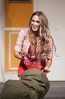 Actress Vanesa Romero performs `El Clan de las Divorciadas´ theater play in Madrid, Spain. August 19, 2015. (ALTERPHOTOS/Victor Blanco)