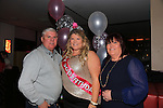 Dionne O'Rourke and Fergus and Angela O'Rourke celebrating her 30th in Bru.Picture:  www.newsfile.ie ..
