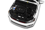 Car Stock 2017 Volkswagen Jetta GLI 4 Door Sedan Engine  high angle detail view