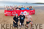 Taking the Polor Plunge in Fenit on Sunday morning.<br /> Front l to r: Elaine Burrows Dillane, Brendan O&rsquo;Connell and Kevin Williams