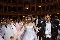 0802020329a Dress rehearsal of the 13th Budapest Opera Ball held at Opera House involving 50 couples of debutantes performing the opening waltz. Budapest, Hungary. Saturday, 02. February 2008. ATTILA VOLGYI