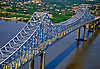 Aerial View of the Commordore Barry Bridge, Delaware River, Pennsylvania, New Jersey