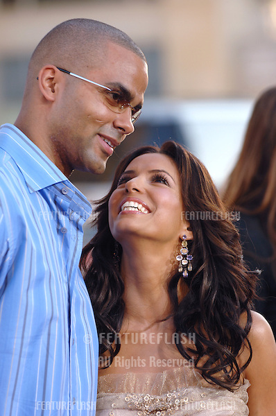 Desperate Housewives star EVA LONGORIA & boyfriend TONY PARKER at the Los Angeles premiere of The Dukes of Hazzard..July 28, 2005 Los Angeles, CA.© 2005 Paul Smith / Featureflash