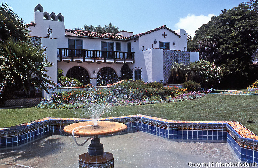 The Adamson House,designed by Stiles O. Clements of the architectural firm of Morgan, Walls & Clements. Spanish and Moorish influence. Malibu. July 1989.