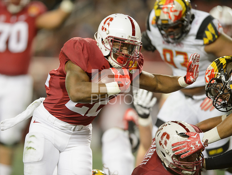 Santa Clara, Ca - December 30, 2014: Stanford defeated Maryland 45-21 in the 2014 Foster Farms Bowl at Levi Stadium.