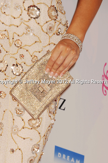 BEVERLY HILLS, CA - OCTOBER 20: Cheryl Burke (handbag, bracelet detail) at the 26th Anniversary Carousel Of Hope Ball presented by Mercedes-Benz at The Beverly Hilton Hotel on October 20, 2012 in Beverly Hills, California.