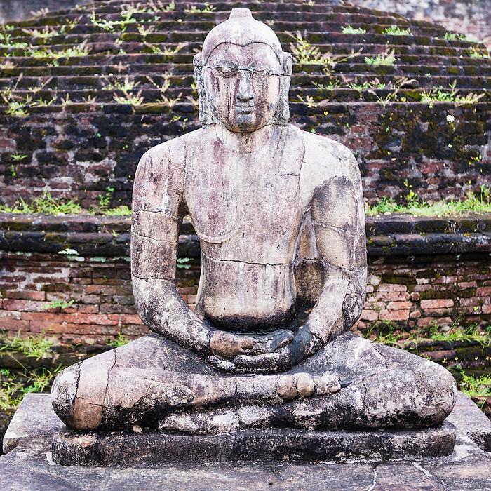 Ancient City of Polonnaruwa, Buddha statue at Vatadage (Circular Relic House) in Polonnaruwa Quadrangle, UNESCO World Heritage Site, Sri Lanka, Asia. This is a photo of a Buddha statue at the Vatadage (Circular Relic House) in Polonnaruwa Quadrangle at the Ancient City of Polonnaruwa, a UNESCO World Heritage Site in Sri Lanka, Asia.
