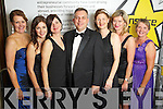 Angela Ryan, Marie Lynch, Catriona Curtin, Sean Ryan, Catriona Py Collins, Caroline Sugrue and Bernie Buckley at the Ernst & Young Entrepreneur awards in Citywest Hotel, Dublin on Thursday Night.