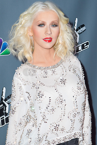 "UNIVERSAL CITY, CA - NOVEMBER 07: Recording Artist Christina Aguilera at NBC's ""The Voice"" Season 5 Top 12 in Universal City Plaza, on November 7th, 2013 in Universal City, California Photo Credt: RTNRossi / MediaPunch Inc."
