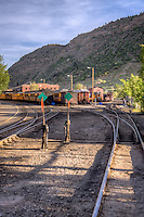 Duragno Depot and Museum of The Durango Silverton Narrow Gauge Raliroad. this a historic authentic steam operated scenic railway. The locomotives are 1923-25 vintage and are maintained in original condition and operate year round between Durango and Silverton Colorado
