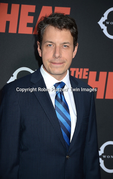"John Ross Bowly attends the New York Premiere of ""The Heat"" on June 23,2013 at the Ziegfeld Theatre in New York City. The movie stars Sandra Bullock, Melissa McCarthy, Demian Bichir, Marlon Wayans, Joey McIntyre, Jessica Chaffin, Jamie Denbo, Nate Corddry, Steve Bannos, Spoken Reasons and Adam Ray."