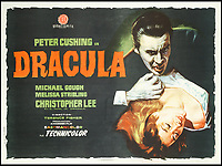 BNPS.co.uk (01202 558833)<br /> Pic: Bonhams/BNPS<br /> <br /> Dracula, 1958, estimate &pound;900.<br /> <br /> A wacky collection of sci-fi and horror genre B movie posters from the 'Golden Age of Hollywood' have emerged for sale. <br /> <br /> The 15-strong assortment of obscure advertisements spans from 1933 until 1966 and are worth up to &pound;5,000 each. <br /> <br /> B movies were characterised by their low-budget and extravagant posters, which were often better received than the actual film. <br /> <br /> The most expensive is an 83ins by 39ins poster for the 1933 film Ghoul, which is expected to fetch &pound;5,000. <br /> <br /> The posters have been consigned to auction by a selection of UK sellers to auctioneer Bonhams.