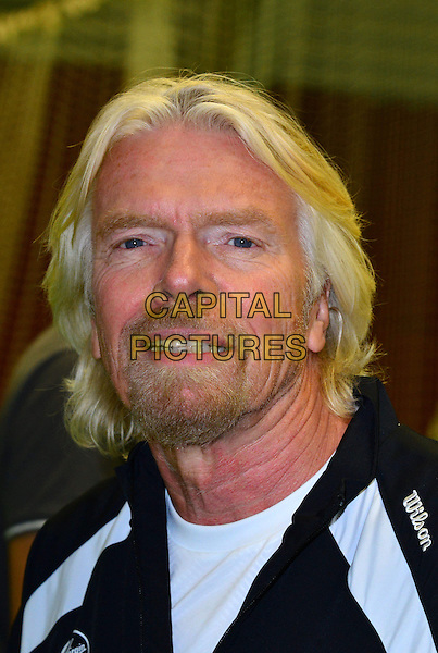 Sir Richard Branson.Press conference & photocall where British tennis star, Laura Robson, becomes Virgin Active's first tennis ambassador & the face of Virgin Active's Junior Tennis Academy, Virgin Active Chiswick Riverside, London, England..February 26th, 2013.headshot portrait white black goatee facial hair  .CAP/BF.©Bob Fidgeon/Capital Pictures.