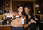 Christina Lind & Denise Vasi bartending for tips for charity at the Celebrity Bartending Bash on May 14 at Martini's Upstairs, Marco Island, Florida - SWFL Soapfest Charity Weekend May 14 & !5, 2011 benefitting several children's charities including the Eimerman Center providing educational & outreach services for children for autism. see www.autismspeaks.org. (Photo by Sue Coflin/Max Photos)