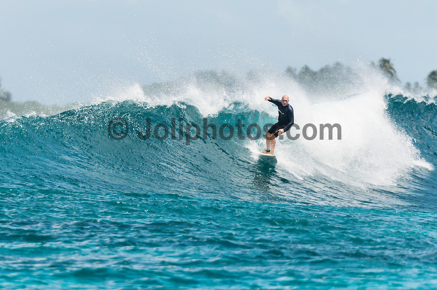 Four Seasons,Kuda Huraa, Maldives (Sunday, August 9, 2015) Doug Lees (AUS). The worlds &lsquo;most luxurious surfing event,&rsquo; the Four Seasons Maldives Surfing Champions Trophy will finished yesterday  at the famed &lsquo;Sultans Point&rsquo; with the  Grand Final  between Shane Dorian (HAW) and defending event champion Dave Rastovich (AUS). Dorian led form the start with two high scoring waves very quickly. Rasta hit back in the dying minutes but it wasn't enough with Dorian taking out this years event. <br /> With the contest over it gave Dorian and fellow competitor Neco Padaratz a chance to explore the atolls and took a seaplane south in search of waves with Tropicsurf owner Ross Phillips (AUS).  Photo: joliphotos.com