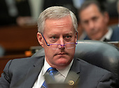"United States Representative Mark Meadows (Republican of North Carolina) listens as FBI Deputy Assistant Director Peter Strzok testifies during a joint hearing of the US House Committee on the Judiciary and the US House Committee on Oversight and Government Reform on ""Oversight of FBI and DOJ Actions Surrounding the 2016 Election"" on Capitol Hill in Washington, DC on Thursday, July 12, 2018. <br /> Credit: Ron Sachs / CNP<br /> (RESTRICTION: NO New York or New Jersey Newspapers or newspapers within a 75 mile radius of New York City)"
