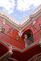 Courtyard of the  Museo Casa del Alfenique, Puebla, Mexico. The historical center of Puebla is a UNESCO World Heritage Site.
