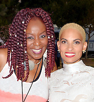 LOS ANGELES, CA -JULY 23: Singers Gramma Funk and Goapele attend the 1st Annual Los Angeles Soul Music Festival at the Autry in Griffith Park on July 23, 2016 in Los  Angeles, California. Credit: Koi Sojer/Snap'N U Photos/MediaPunch
