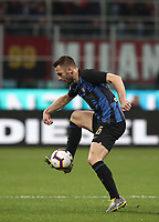 Calcio, Serie A: AC Milan - Inter Milan, Giuseppe Meazza (San Siro) stadium, Milan on 17 March 2019.  <br /> Inter's Stefan De Vrij in action during the Italian Serie A football match between Milan and Inter Milan at Giuseppe Meazza stadium, on 17 March 2019. <br /> UPDATE IMAGES PRESS/Isabella Bonotto