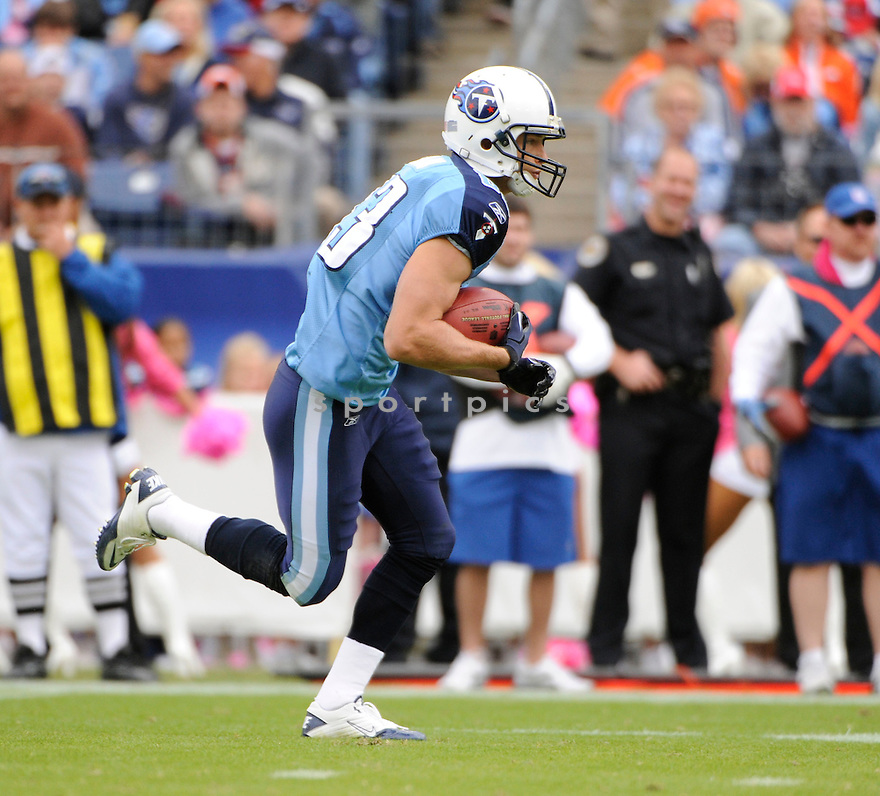 MARC MARIANI, of the Tennessee Titans in action during the Titans game against Denver Broncos  the on October 3, 2010 at LP Field in Nashville, Tennesse...THE Denver Broncos  beat theTennessee Titans 26-20