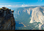 West View from Promontory Point in Autumn, Taft Point Overlook, Yosemite Valley and El Capitan, Taft Point, Yosemite National Park