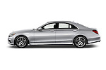 Car Driver side profile view of a 2017 Mercedes Benz S-Class S550 4 Door Sedan Side View