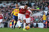 Pierre-Emerick Aubameyang of Arsenal during Arsenal vs Southampton, Premier League Football at the Emirates Stadium on 24th February 2019