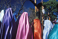 jesus´crucifiction is re-enacted for holy week (Semana Santa) in Erongaricuaro, Michoacan, Mexico