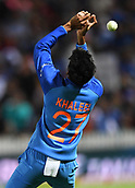 10th February 2019, Seddon Park, Hamilton, New Zealand; 3rd T20 International, New Zealand versus India;    Khaleel Ahmed drops a chance to dismiss Munro