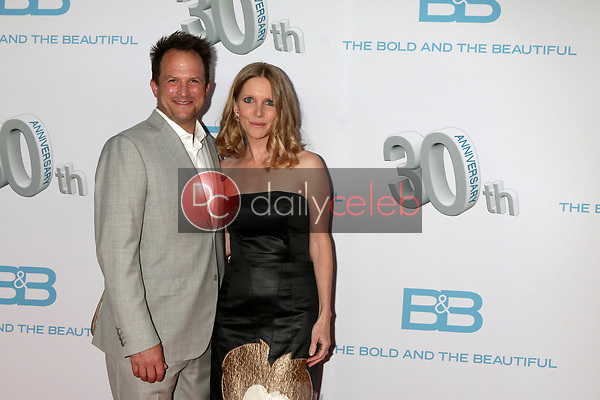 """Scott Martin, Lauralee Bell Martin<br /> at the """"The Bold and The Beautiful"""" 30th Anniversary Party, Clifton's Downtown, Los Angeles, CA 03-18-17<br /> David Edwards/DailyCeleb.com 818-249-4998"""