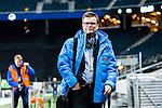 Solna 2014-03-15 Bandy SM-final Damer Kareby IS - AIK  :  <br /> TV4 Sport expert expertkommentator Kenth Hultqvist i Friends Arena innan matchen<br /> (Foto: Kenta J&ouml;nsson) Nyckelord:  SM SM-final final dam damer Kareby AIK portr&auml;tt portrait