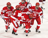 Savannah Newton (BU - 28), Victoria Bach (BU - 12), Nina Rodgers (BU - 23), Alexis Crossley (BU - 25), Mary Parker (BU - 15) - The Boston College Eagles defeated the visiting Boston University Terriers 5-3 (EN) on Friday, November 4, 2016, at Kelley Rink in Conte Forum in Chestnut Hill, Massachusetts.The Boston College Eagles defeated the visiting Boston University Terriers 5-3 (EN) on Friday, November 4, 2016, at Kelley Rink in Conte Forum in Chestnut Hill, Massachusetts.